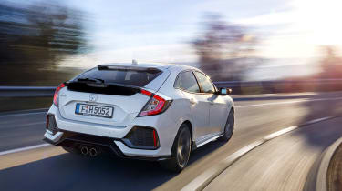 Honda Civic 2017 EU - white rear cornering