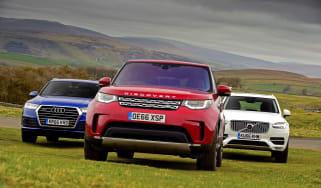Land Rover Discovery vs Audi Q7 vs Volvo XC90 - header
