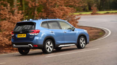 Subaru Forester 2020 in-depth review - rear tracking cornering