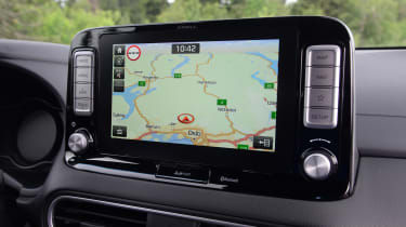 Hyundai Kona electric sat nav