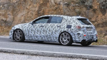 Mercedes-AMG A 45 spied - side