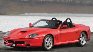 RM Sotheby's 2017 Paris auction - 2001 Ferrari 550 Barchetta Pininfarina front