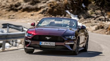 Ford Mustang EcoBoost Convertible - front cornering