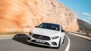 New Mercedes A-Class - white front panning