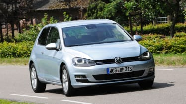 VW Golf BlueMotion front action