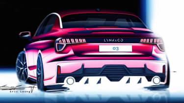 Lynk & Co 03 saloon - rear
