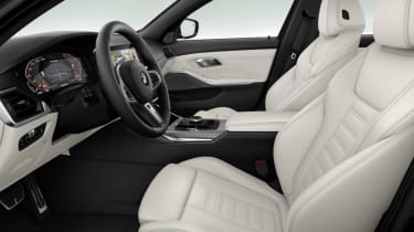 Leaked BMW 3 Series - front seats white