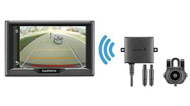 Reversing camera and parking sensors