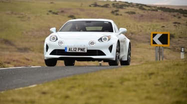 Alpine A110 front driving