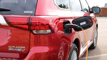 New 2019 Mitsubishi Outlander PHEV plugged in