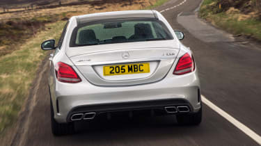 Mercedes C63 AMG saloon - tail end