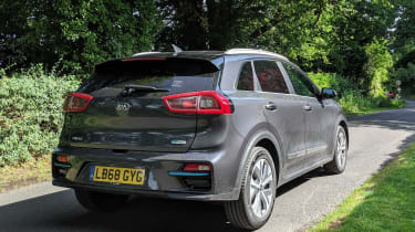 Kia e-Niro long termer - rear tracking]