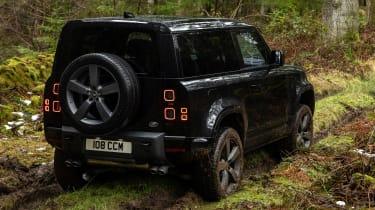 Land Rover Defender 90 V8 - rear off-road