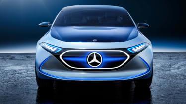 Mercedes EQA concept - full front blue