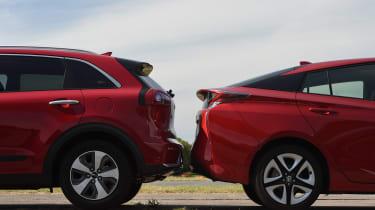 Kia Niro vs Toyota Prius - aerodynamics