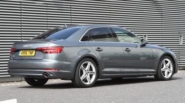 Long-term test review: Audi A4 rear quarter