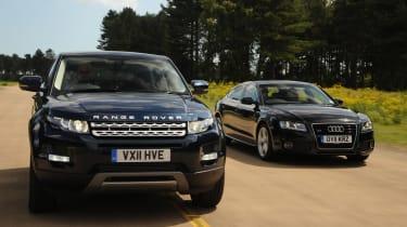 Range Rover Evoque and Audi A5 Sportback