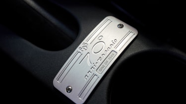 Abarth 695 70th Anniversario - plaque