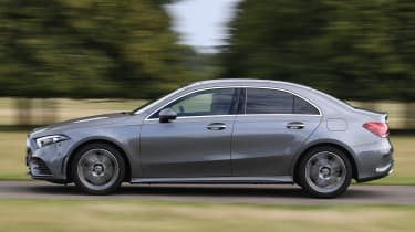 Mercedes A 250 Saloon - side tracking
