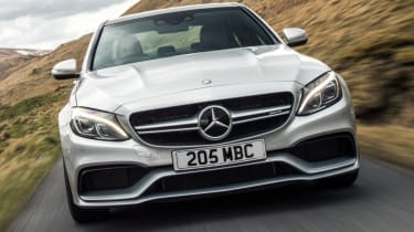 Mercedes C63 AMG saloon - front middle