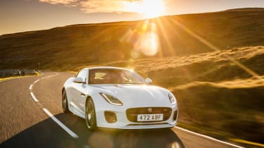 Jaguar F-Type Chequered Flag - front sunset