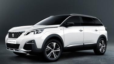 New Peugeot 5008 2016 - white front quarter