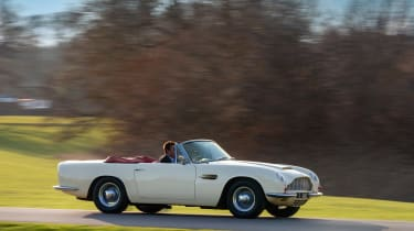 Electric Aston Martin DB6 Mk2 Volante - side action