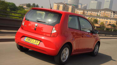 The Mii wears SEAT's corporate grille and round the back it gets distinctive zig-zag tail lights.