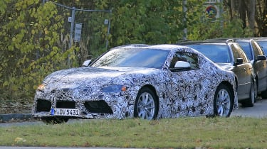 Production Toyota Supra spy front