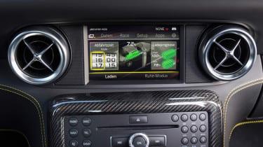 Mercedes SLS Electric Drive centre console