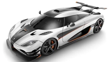 The Koenigsegg One:1 costs around £1.3million and has a power to weight ratio of 1:1 - hence the name.