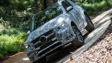Mercedes GLE prototype - off-road front