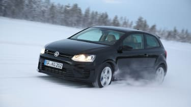 Volkswagen Polo R black front