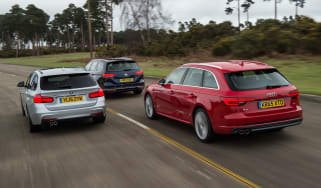 Audi A4 Avant vs BMW 3 Series Touring vs Volkswagen Passat Estate - header