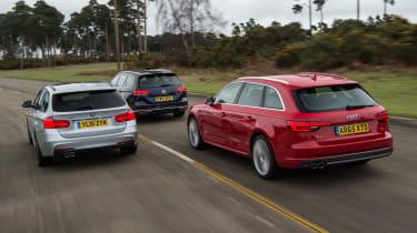 Audi A4 Avant vs BMW 3 Series Touring vs Volkswagen Passat Estate - header