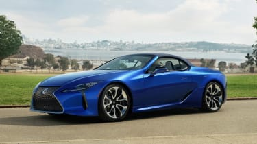 Lexus LC Convertible - front roof up static