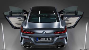 BMW 8 Series Gran Coupe - full rear doors open
