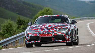 Toyota Supra prototype - front cornering