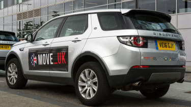 Fast track to self driving - autonomous Discovery Sport rear