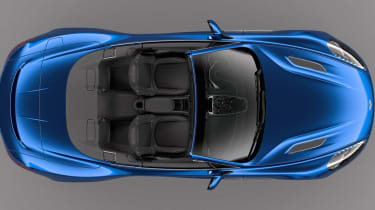 Aston Martin Vanquish Volante overhead