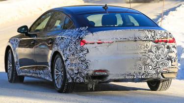 Audi A5 Sportback spies - winter rear 3/4