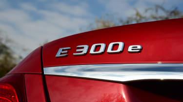 Mercedes E 300 e - rear badge