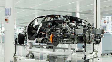 McLaren Speedtail - assembly line - rear 3/4