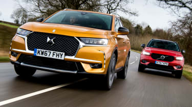 DS 7 Crossback vs Volvo XC40 header