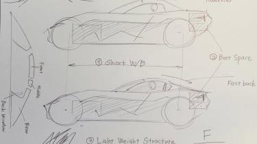 Mazda Mx-5 RF - Masashi Nakayama drawing