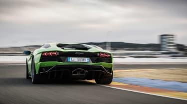 Lamborghini Aventador S - rear cornering