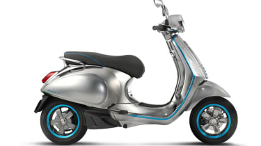 Vespa Elettrica electric scooter - side profile