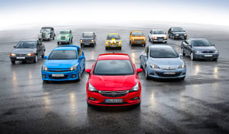 Opel Kadett Vauxhall Astra 80th birthday - group
