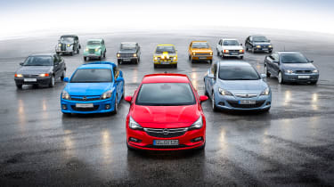 Opel Kadett Vauxhall Astra 80th birthday - group