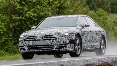 New Audi A8 spies front side rain